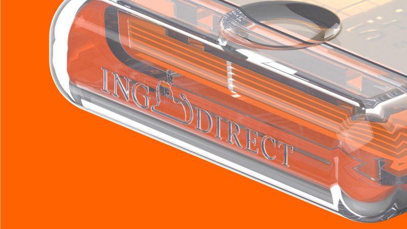 Discreet marking of the brand